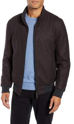 Zachary Prell Palmer Wool Blend Bomber Jacket