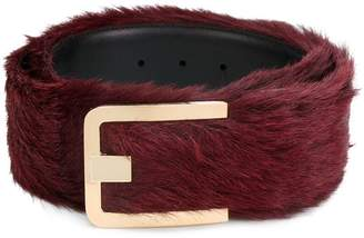 Prada fox fur belt