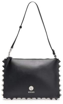 Versace Embellished Leather Shoulder Bag