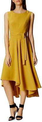 KAREN MILLEN Asymmetric Midi Dress $380 thestylecure.com