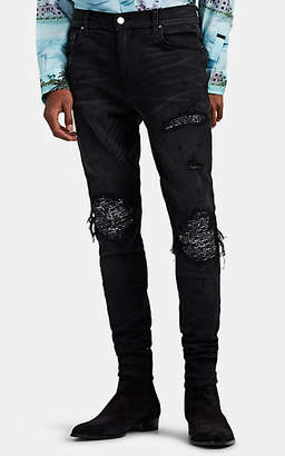 Amiri Men's MX1 Bandana-Inset Slim Jeans - Black