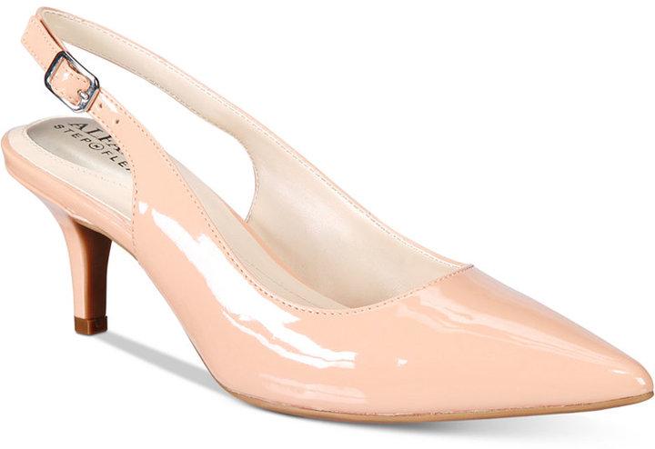 AlfaniAlfani Women's Step 'N Flex Babbsy Pointed-Toe Slingback Pumps, Only at Macy's