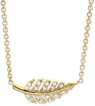 Jennifer Meyer Mini Diamond Leaf Necklace
