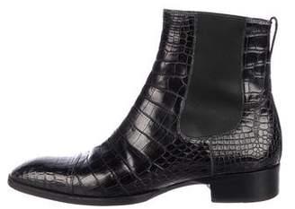 Tom Ford Gianni Alligator Cap-Toe Chelsea Boots
