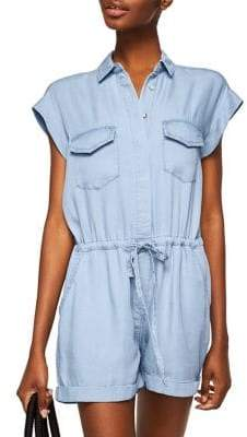MANGO Jane Denim Romper