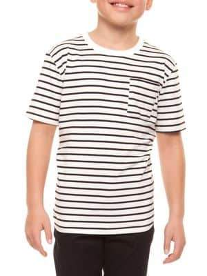 Dex Boy's Striped Pocket Tee