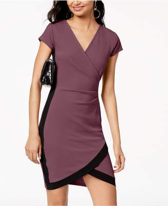 Crave Fame Juniors' Framed Wrap Dress