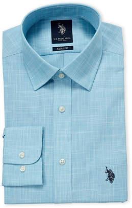 U.S. Polo Assn. Teal Slim Fit Dress Shirt
