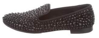 Giuseppe Zanotti Embellished Round-Toe Loafers