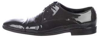 Gucci Patent Leather Round-Toe Derby Shoes
