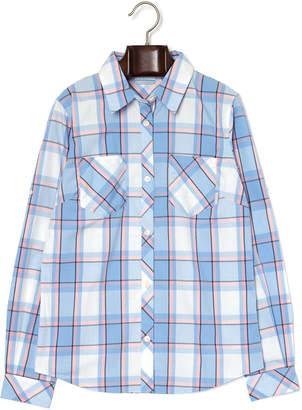 Columbia (コロンビア) - Columbia ビーオールアバウトイット チェック柄 長袖シャツ ブルー l