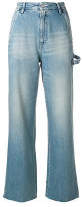 MM6 MAISON MARGIELA stonewashed belted wide leg jeans