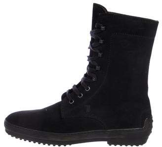 Tod's Suede Combat Boots