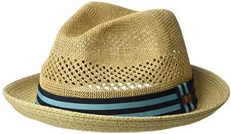 Bailey Of Hollywood Men's Berle Fedora Trilby Hat with Striped Band