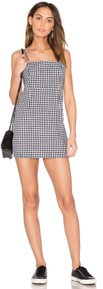 LIONESS Cha Cha Gingham Mini Dress $57 thestylecure.com