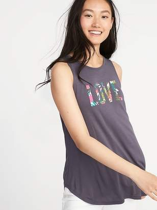 Old Navy Graphic High-Neck Swing Tank for Women