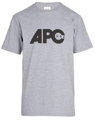 A.P.C. Johnny T Shirt - Mens - Grey