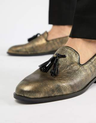House of Hounds House Of Hounds Blitz Loafers In Metallic Gold