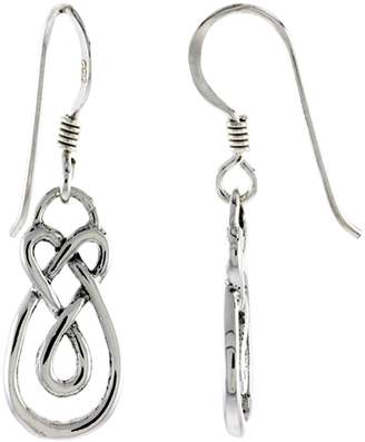 Sabrina Silver Sterling Silver Celtic Motherhood Knot Earrings, 5/8 inch long