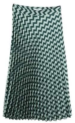 MANGO Zig-zag print pleated skirt