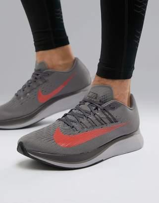 Nike Running Zoom Fly Sneakers In Grey 880848-004