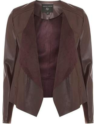 Dorothy Perkins Womens Burgundy Waterfall Jacket