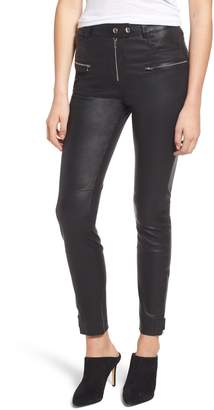 7 For All Mankind Leather Biker Pants