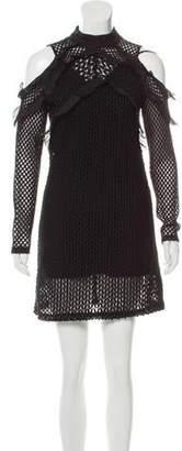 Self-Portrait Cold-Shoulder Mini Dress