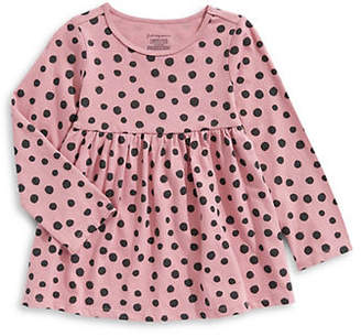 First Impressions Baby Girl's Polka-Dot Cotton Tunic