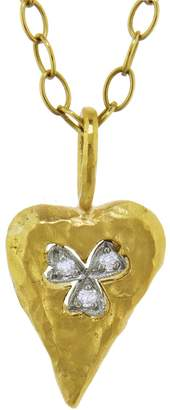 Cathy Waterman Floating Clover Heart Charm
