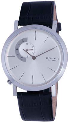 Johan Eric Men's Randers Quartz Black Leather Strap Watch