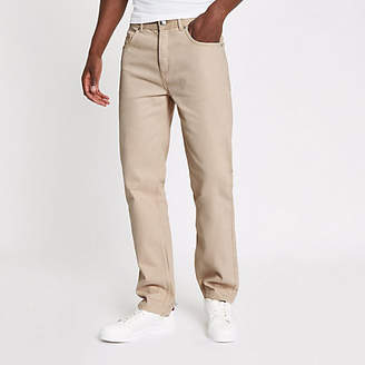 River Island Ecru standard raw hem jeans