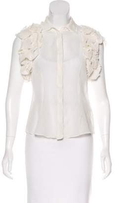 Rachel Zoe Silk Button-Up Top