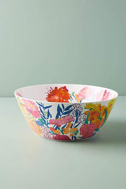 Bridgette Thornton Paint + Petals Melamine Serving Bowl