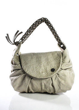 Designer Dautore Beige Leather Flap Close Woven Strap Shoulder Handbag