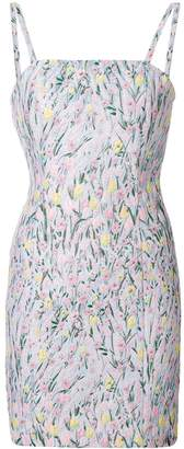 VIVETTA floral pattern embroidered cami-dress