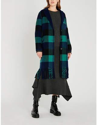Sandro Checked wool-blend coat