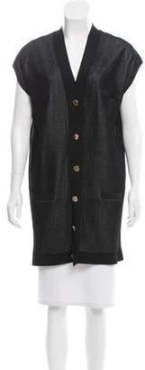 Cushnie et Ochs Short Sleeve Button-Up Cardigan w/ Tags