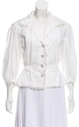 Chanel Pleated Button-Up Top