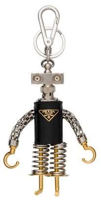 Prada Hook Saffiano Leather Keychain Trick