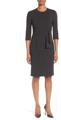 Women's Boss Dawini Sash Tie Sheath Dress $625 thestylecure.com