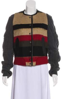 Rag & Bone Collarless Long Sleeve Jacket