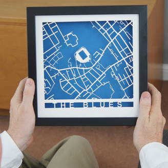 LocalOutlines Personalised Layered Stadium Map Box Frame