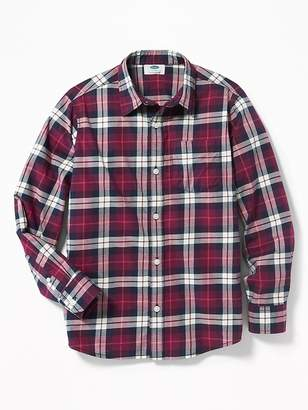 Old Navy Built-In Flex Classic Plaid Shirt for Boys