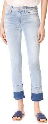 Hudson Zoeey Mid Rise Cropped Jeans $235 thestylecure.com
