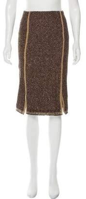 Prada Knee-Length Tweed Skirt