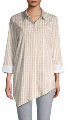 Lafayette 148 New York Rosamund Gingham Button-Front Shirt