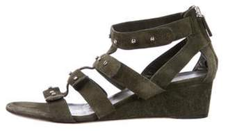 Gucci Studded Caged Wedges green Studded Caged Wedges