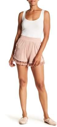 HIATUS Faux Suede Fringe Tassel Shorts