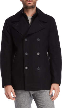 Andrew Marc Emmett Double-Breasted Peacoat